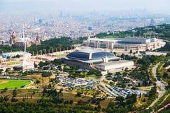 Área de Olimpic de Montjuic Cataluña, España Foto de archivo libre de regalías
