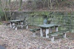 Área de picnic fotografía de archivo