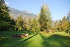 Área de picnic en Italia Foto de archivo libre de regalías