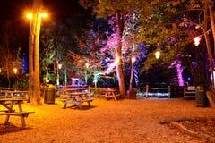 Área de piquenique iluminada Imagem de Stock