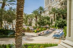 Área de piscina do Caesars Palace Fotos de Stock