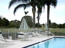 Área de piscina en campo de golf Fotos de archivo
