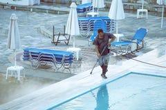 Área de piscina que se lava 3 Fotografía de archivo