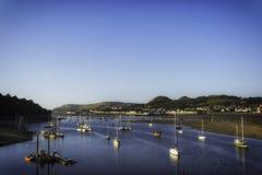 Área de porto de Conwy, Clwyd, Gales Fotos de Stock