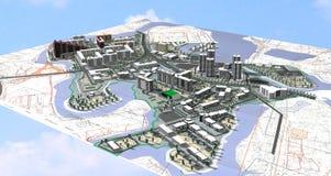 Área de proyecto de la ciudad Foto de archivo libre de regalías