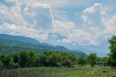 Área de Qusar Vista na montanha Shahdag azerbaijan Imagens de Stock Royalty Free
