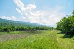 Área de Qusar Vista na montanha Shahdag azerbaijan Foto de Stock Royalty Free