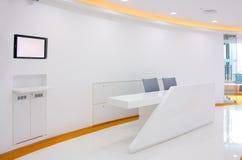 Área de recepção do escritório