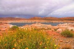 Área de reconstrucción de Powell del lago Fotos de archivo libres de regalías