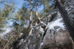 Área de recreação Cliff Landscape cênico do lago Sherando fotografia de stock royalty free