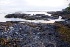 Área de recreação da angra de sal Foto de Stock