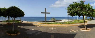 Área de recreação da cidade praia Fotos de Stock Royalty Free