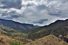 Área de região selvagem da garganta de Salt River, floresta nacional de Tonto, Gila County, o Arizona, Estados Unidos imagem de stock royalty free