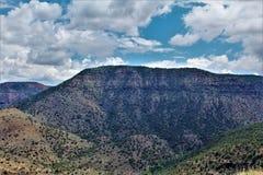 Área de região selvagem da garganta de Salt River, floresta nacional de Tonto, Gila County, o Arizona, Estados Unidos imagens de stock royalty free