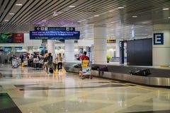Área de reivindicação de bagagem em Kuala Lumpur International Aiport, Malásia Foto de Stock
