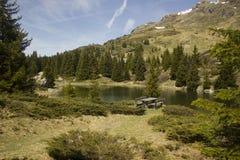 Área de repouso Alp Flix Imagem de Stock Royalty Free