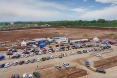Área de repouso nova inacabado em Batang tollway imagens de stock royalty free