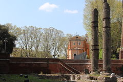 Área de Roma com culumns Foto de Stock