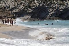 Área de Sandy con las dunas en la playa Fotografía de archivo libre de regalías