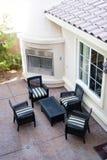 Área de sentada al aire libre Fotografía de archivo