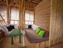 Área de sentada de bambú Fotografía de archivo