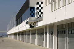 Área de servicio una pista de raza - pitstop Foto de archivo