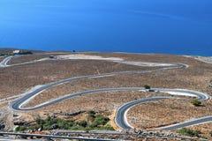 Área de Sfakia en la isla de Crete en Grecia imágenes de archivo libres de regalías