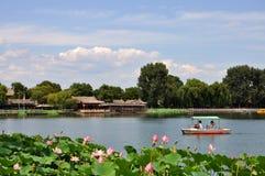 Área de Shichahai (os três lagos traseiros) Fotos de Stock Royalty Free