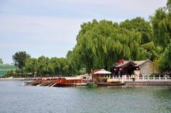Área de Shichahai (os três lagos traseiros) Imagem de Stock