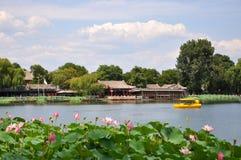 Área de Shichahai (os três lagos traseiros) Fotografia de Stock