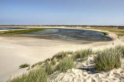 Área de Slufter vista de uma duna de areia fotografia de stock royalty free