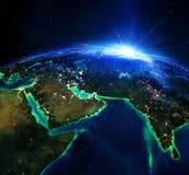 Área de tierra en Arabia y la India ilustración del vector