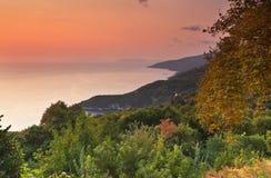 Área de Tsagarada em Pelion em Greece Imagem de Stock Royalty Free