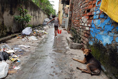Área de tugurios de Kolkata Imágenes de archivo libres de regalías
