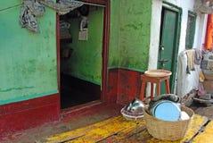 Área de tugurios de Kolkata fotos de archivo libres de regalías