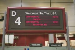 Área de um aeroporto internacional, Estados Unidos de alfândega Foto de Stock Royalty Free