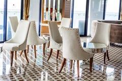 Área de um hotel, clube da sala de estar, entrada da empresa Imagem de Stock
