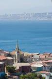 Área de Valparaiso, Chile Foto de archivo