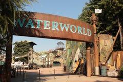 Área de Waterworld en los estudios universales JAPÓN Imagen de archivo libre de regalías
