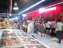 Área del alimento cocido del supermercado Fotos de archivo libres de regalías