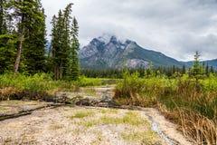 Área del azufre de Banff Imagenes de archivo