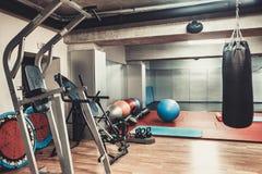 Área del boxeo en el gimnasio fotos de archivo libres de regalías