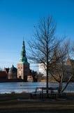 Área del castillo de Frederiksborg en Hilleroed Imagenes de archivo