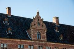 Área del castillo de Frederiksborg en Hilleroed Imagen de archivo libre de regalías