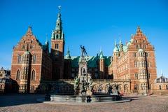 Área del castillo de Frederiksborg en Hilleroed Imagen de archivo