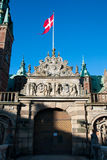 Área del castillo de Frederiksborg en Hilleroed Foto de archivo libre de regalías