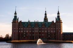 Área del castillo de Frederiksborg en Hilleroed Imágenes de archivo libres de regalías