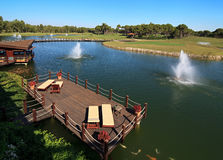 Área del club de golf de Sueno. Imagen de archivo libre de regalías