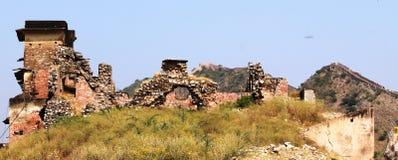 Área del daño del FUERTE de AMER (JAIPUR) Imagen de archivo