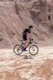 Área del desierto de la bici del corredor Fotos de archivo libres de regalías